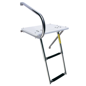 Combo/Outboard Transom Platform and Telescopic Ladder, Deployed