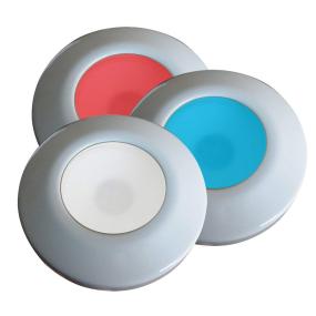 "I2Systems 3-1/2"" Profile Tri-Light Surface Mount LED Light - White Bezel"