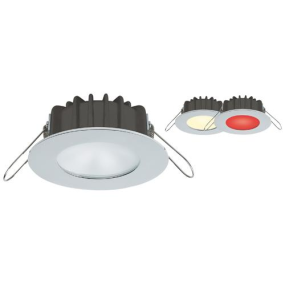 """IMTRA 3-3/16"""" Ventura PowerLED Recess Spot Light - Polished SS, White or Red Beam"""