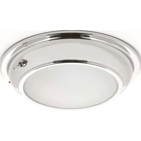 """6-1/2"""" Gibraltar Bi-Color LED Dome Light w/ 3-Way Switch - Warm White / Red"""