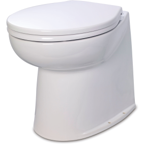 """Deluxe Flush Electric Toilet - 17"""" Straight Back"""