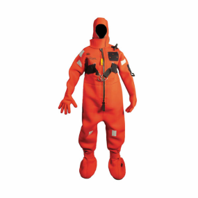 Front View of Mustang Survival Neoprene Cold Water Immersion Suit with Harness - Adult Universal