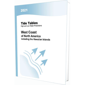 2021 Tidal Current Tables, West Coast of North and South America