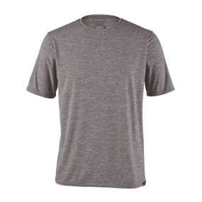 Feather Grey Front View of Patagonia Men's Capilene Cool Daily Shirt