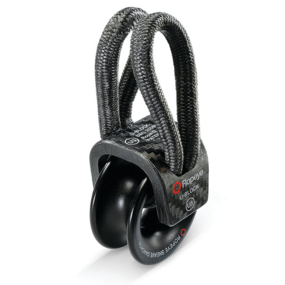 Front View of ROUB3 Ropeye U-Block - Soft Attach