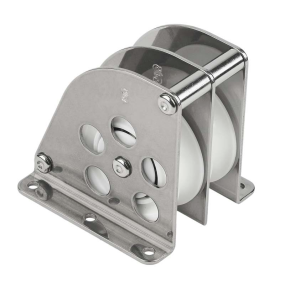 angle view of Schaefer Marine Double Over-The-Top Ball Bearing Block