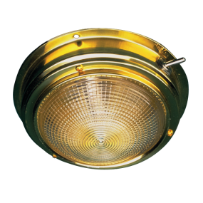 "Sea-Dog Line 5"" Brass Incandescent Dome Light"