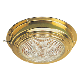 "Sea-Dog Line 5"" LED Brass Dome Light"