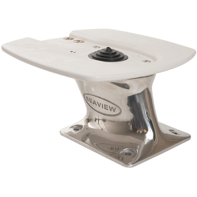 """Aft Leaning Stainless Steel Universal Radar Mount - 5"""" Tall"""