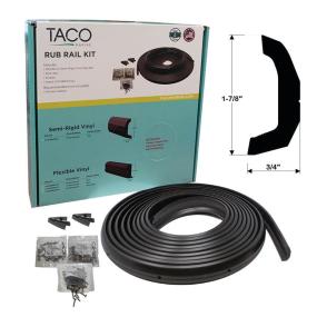 Semi-Rigid Vinyl Rub Rail Kits - Black or White