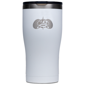 white front of TOADFISH OUTFITTERS 30oz Tumbler