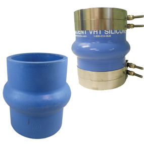 270v3000 of Trident Marine Hose & Propane 270V Series Very High Temp Blue Silicone Blend Exhaust Bellows - Hump Hose