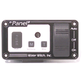 e-Panel 2P - On/Off Remote Control Panel with Timed Alarm Mute Switch