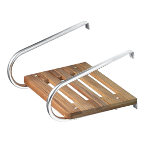 60901 of Whitecap Industries Teak Swim Platform With Dual Handrails