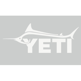white of Yeti Coolers Marlin Window Decal