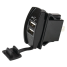 USB Dual Power Socket - Rocker Switch Style 1