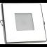 """2-3/4"""" Indoor/Outdoor Recessed Mount LED Light - Square Trim 1"""