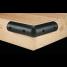 CORNER BLACK BUMPER 4.5WX2.25HX12L