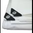 White UV-Resistant Poly Tarps - 10 Mil Heavy Duty 2