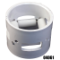 PIPE COUPLING W/ ROLLERS 3IN PVC