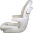 Elite Helm Seat High Back Boat Seat - White Shell - White Cushion 2