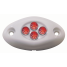 WHITE SURFACE LIGHT 4 RED LED
