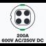 200A 600V AC/250V DC Shore Power Inlet 2