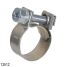 HOSE CLAMP 316 STAINLESS 10 PACK 12