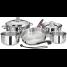 10 Piece Nesting Cookware Set - Induction Compatible 3