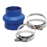 270V Series Very High Temp Blue Silicone Blend Step-Up Exhaust Bellows 1