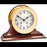 "6"" Brass Ship's Bell Clock & Barometer on Wood Bases - Matched Set 2"