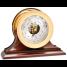 "6"" Brass Shipstrike Clock & Ship's Bell Barometer on Wood Bases - Matched Set 2"