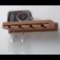 Teak Wineglass Rack with Shelf 1