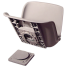 QUICK DISCONNECT SWIVEL SEAT GRAY