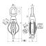 dims of Asano Metal Industry 125 mm AK Single Block Type 3-A - Swivel, Becket