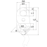 Dimensions of Asano Metal Industry Auto Shackle Type 3 - Manual Release