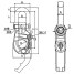 Dimensions of Asano Metal Industry Purse Seiner Snap Shackle Type-2