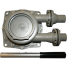 """bottom view of Bosworth Guzzler 450 Series Thru-Deck Manual Pump - 1-1/8"""" Hose, Up to 10 GPM"""