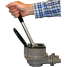 """pumping action detail - push of Bosworth Guzzler 450 Series Thru-Deck Manual Pump - 1-1/8"""" Hose, Up to 10 GPM"""