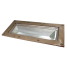 "2414-gm-250 of Davey & Co. Deep Frame Rectangular Deck Prism Light - 5-3/4"" x 12-1/4"" Overall"