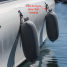 Inflatable Cylindrical Fenders w/3 Sheathed D Rings - Horizontal