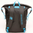 Black/Blue Back View of Geckobrands Waterproof Lightweight Backpack