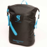 Black/Blue Front View of Geckobrands Waterproof Lightweight Backpack