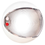 """Hella 5"""" Red / White Surface Mnt EuroLED 130 Touch Dome Light - White Shroud"""