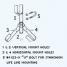 diagram of Jim-Buoy Stanchion U Bolts