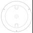 "Lumitec 6-3/4"" TouchDome LED Dome Light - White / Blue"