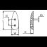 Dimensions of Martyr Medium Teardrop Anode - Zinc