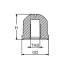 Dimensions of Martyr CM-55989 Mercruiser Inboard/Outboard Button Anode - Zinc