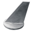 side view of Martyr CM-34127 Mercruiser Inboard/Outboard Long Skeg Anode - Zinc