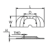 Dimensions of Martyr CM-821629C Mercruiser I/O Gen II Alpha Transom Plate Anode - Zinc